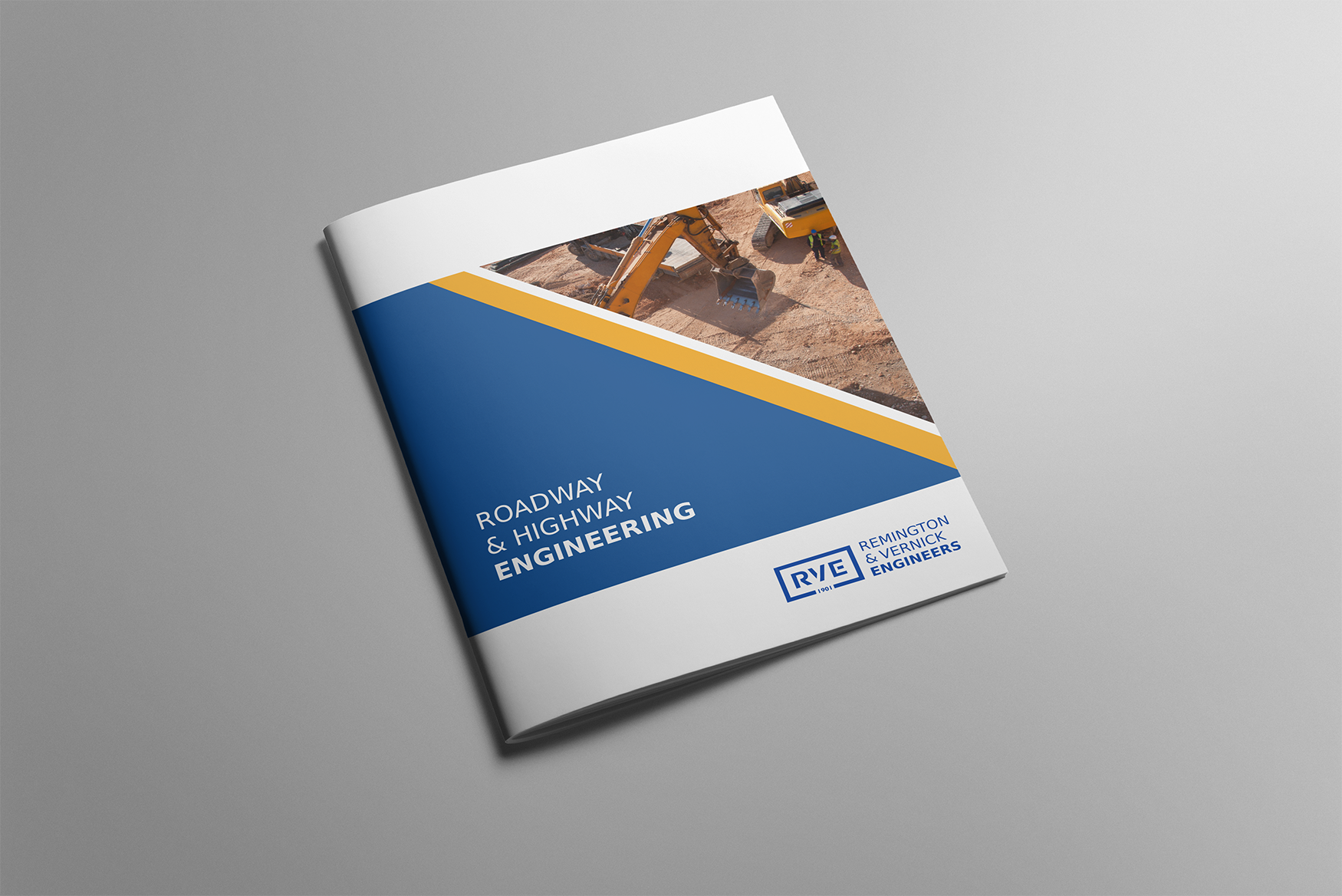 Remington & Vernick Engineers brochure cover mockup