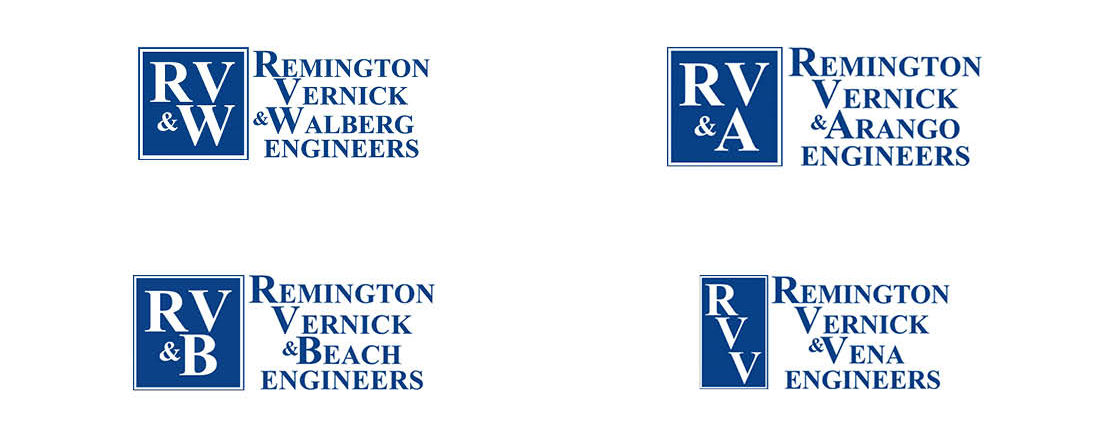 old affiliate logos for Remington Vernick Engineers